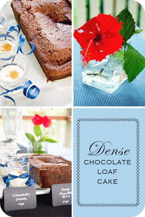 Dense Chocolate Loaf Cake (set)