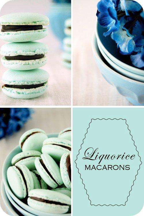 Liquorice macarons