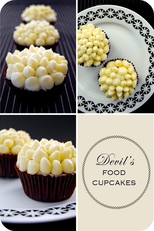 Devil's Food Cupcakes } | Mélanger :: to mix
