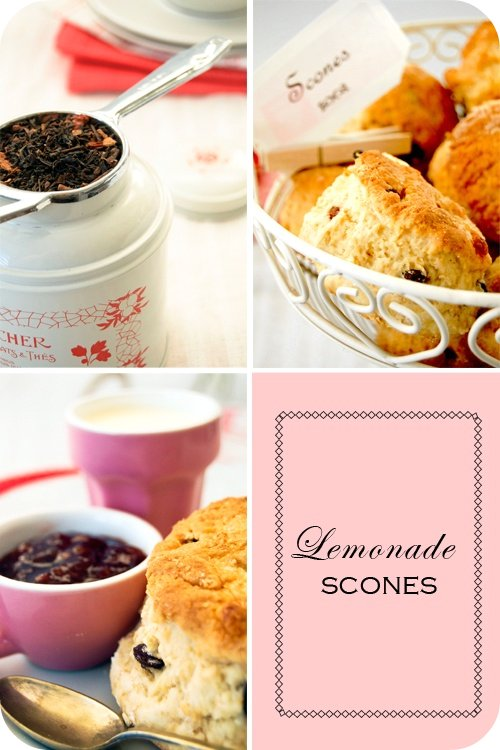 Lemonade scones set